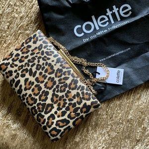 COLETTE HAYMAN Leopard Print Clutch Purse Bag. NWT